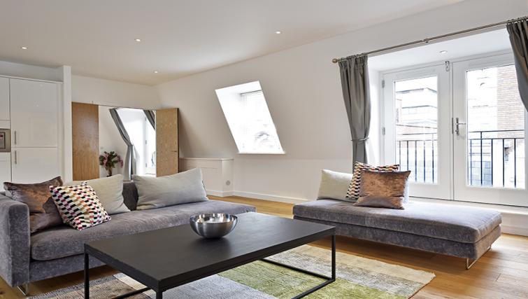 Sofas at Lovat Lane Monument Apartments - Citybase Apartments