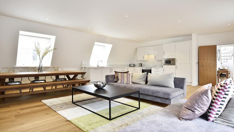 Bright living area at Lovat Lane Monument Apartments - Citybase Apartments