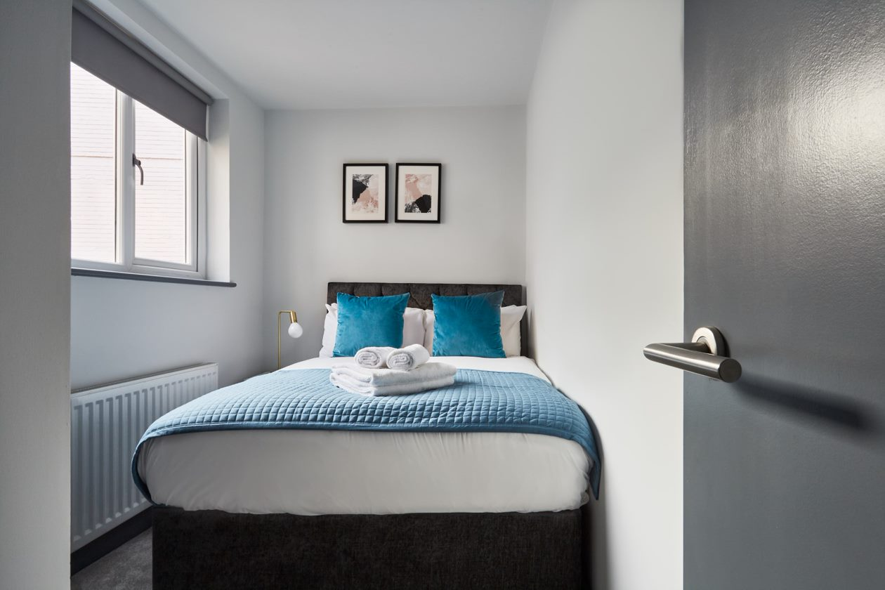 Bedroom at Flying Butler Holborn Apartments, Holborn, London - Citybase Apartments