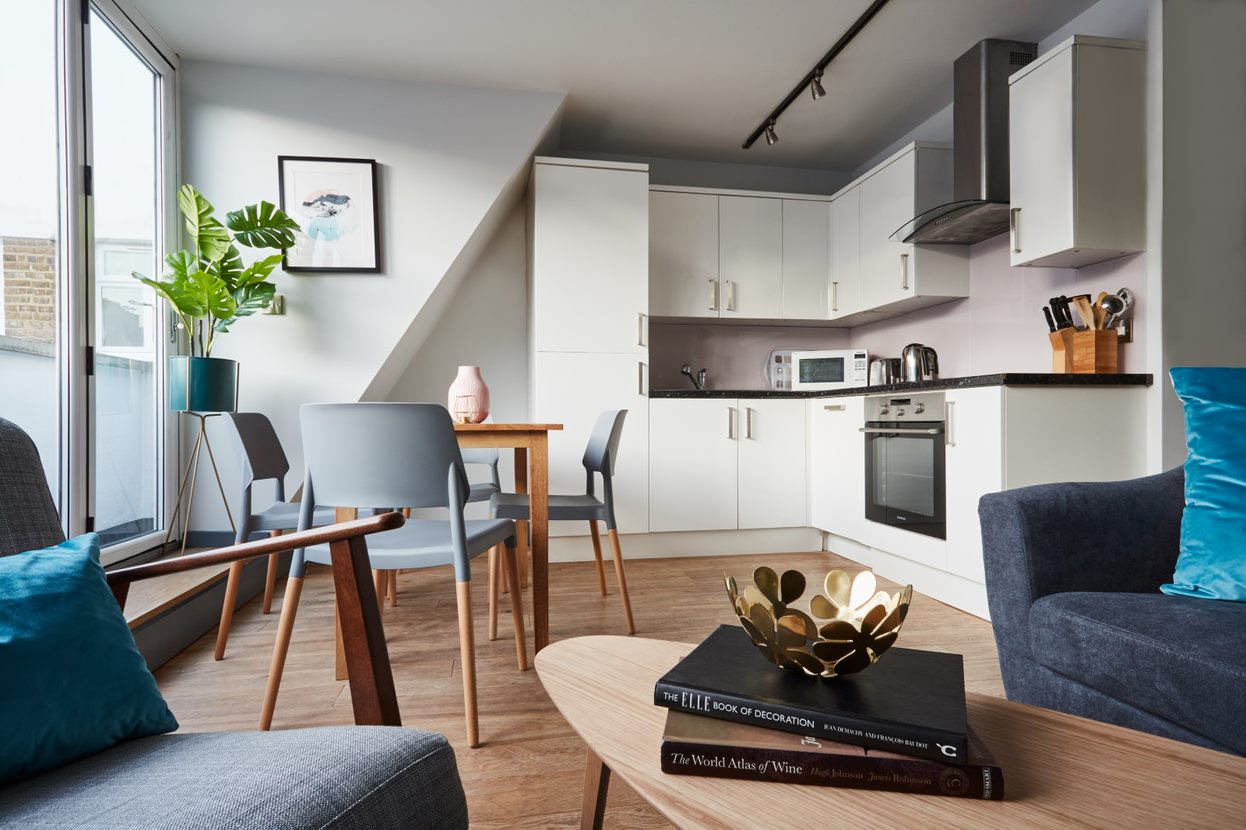 Kitchen at Flying Butler Holborn Apartments, Holborn, London - Citybase Apartments