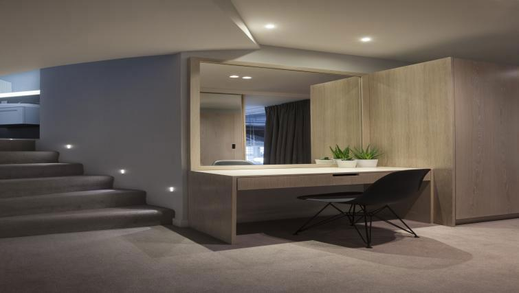 Desk at Ikonic Dean Village Luxury Apartment - Citybase Apartments
