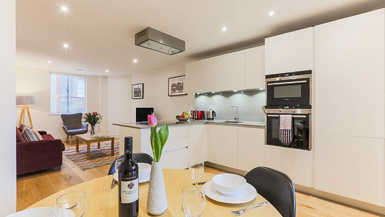 Equipped kitchen at Lambeth North by Q Apartments - Citybase Apartments