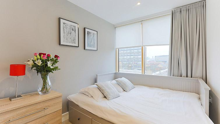 White bedroom at Lambeth North by Q Apartments - Citybase Apartments