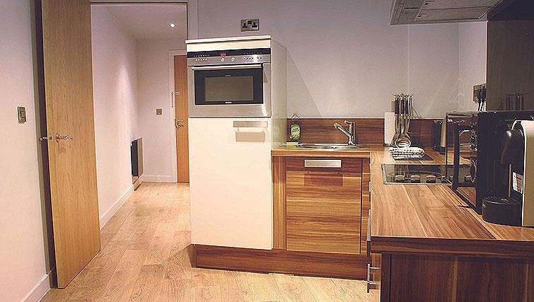 Fully equipped kitchen at Blonk Street Apartments - Citybase Apartments