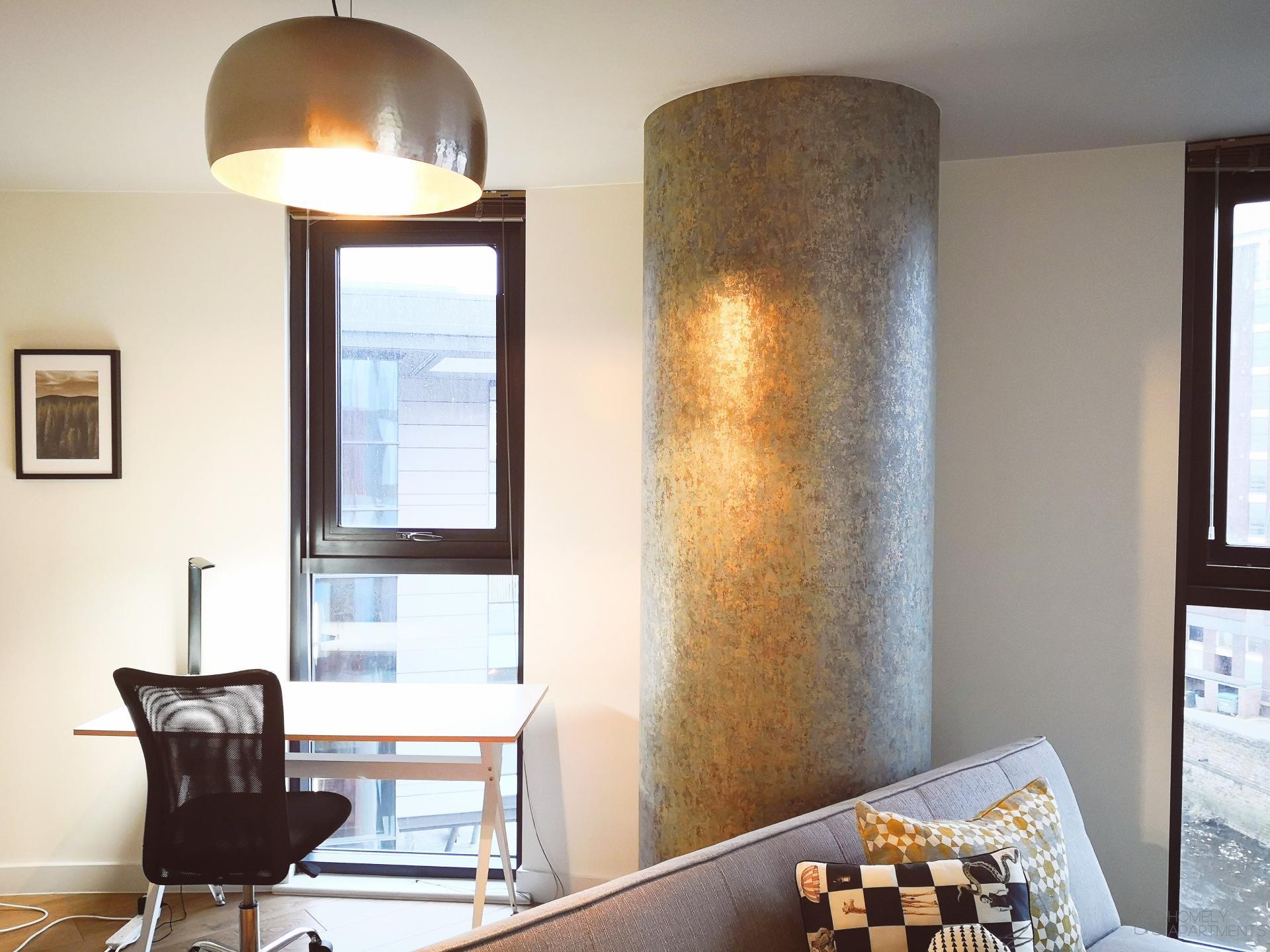 Desk at Blonk Street Apartments - Citybase Apartments