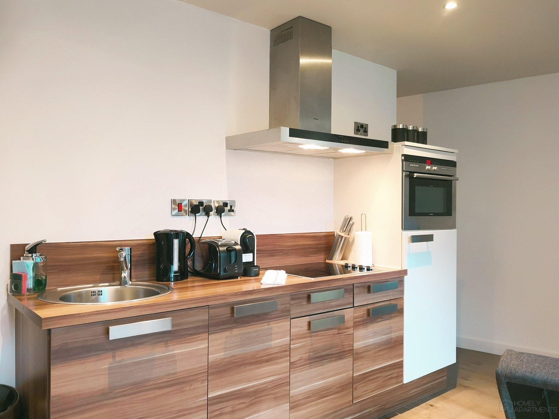 Modern kitchen at Blonk Street Apartments - Citybase Apartments