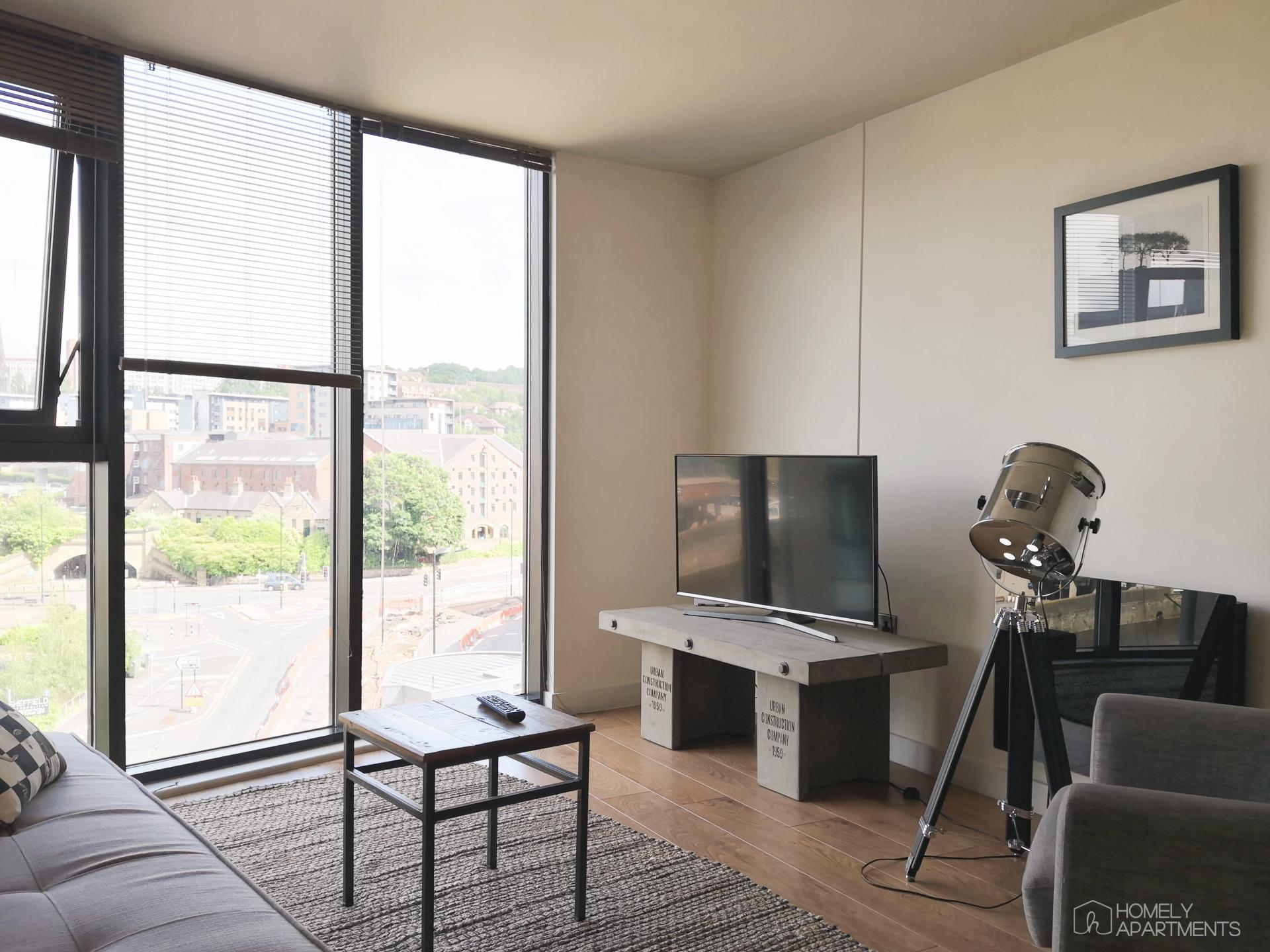 Living space at Blonk Street Apartments - Citybase Apartments