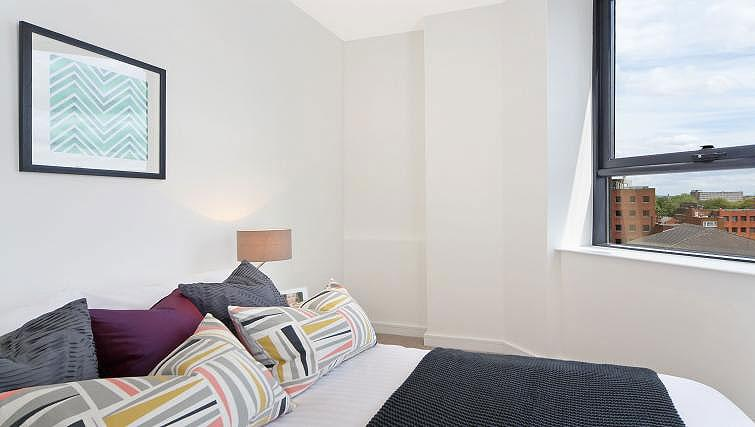 Double bed at Harrow Apartments - Citybase Apartments