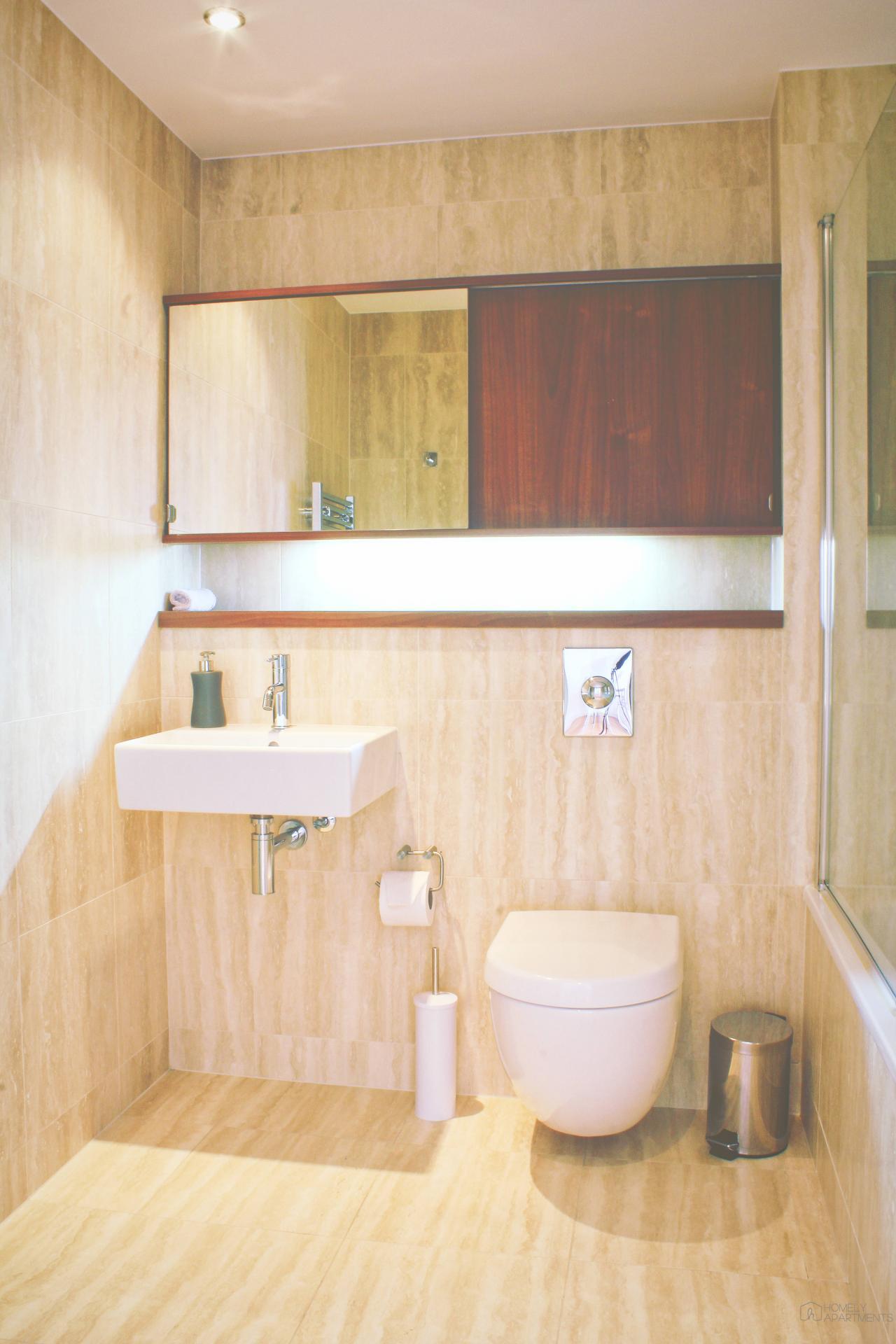 Bathroom at St Paul's Apartments - Citybase Apartments