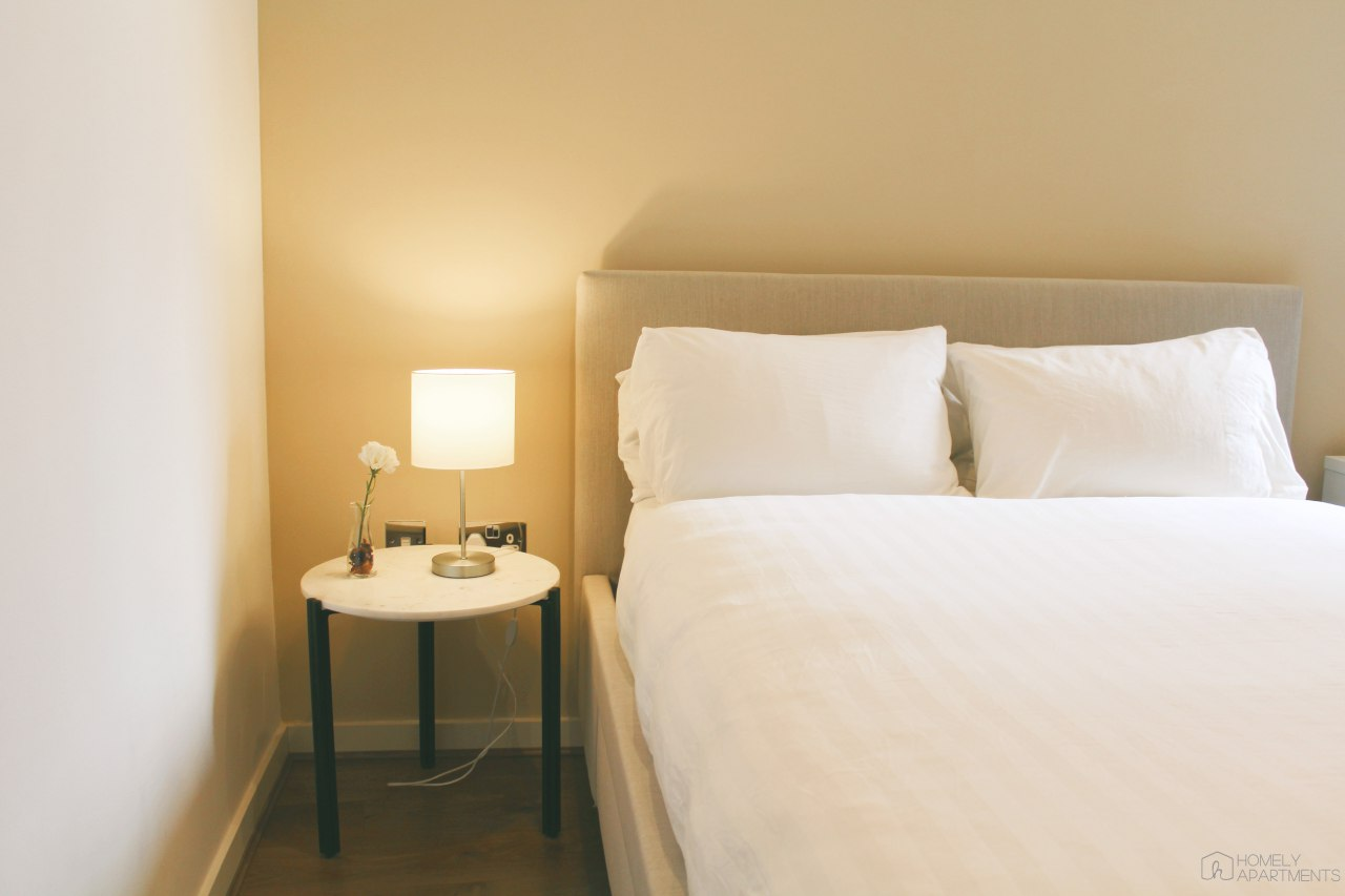 Cosy bedroom at St Paul's Apartments - Citybase Apartments