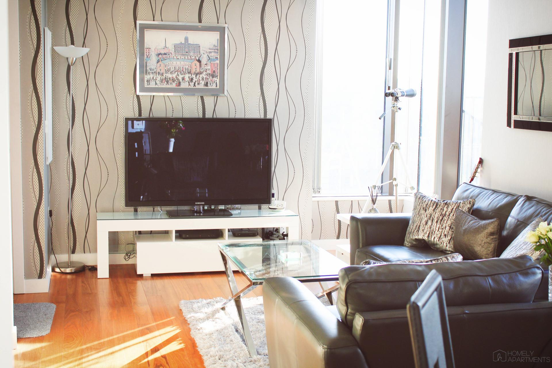Living room at St Paul's Apartments - Citybase Apartments