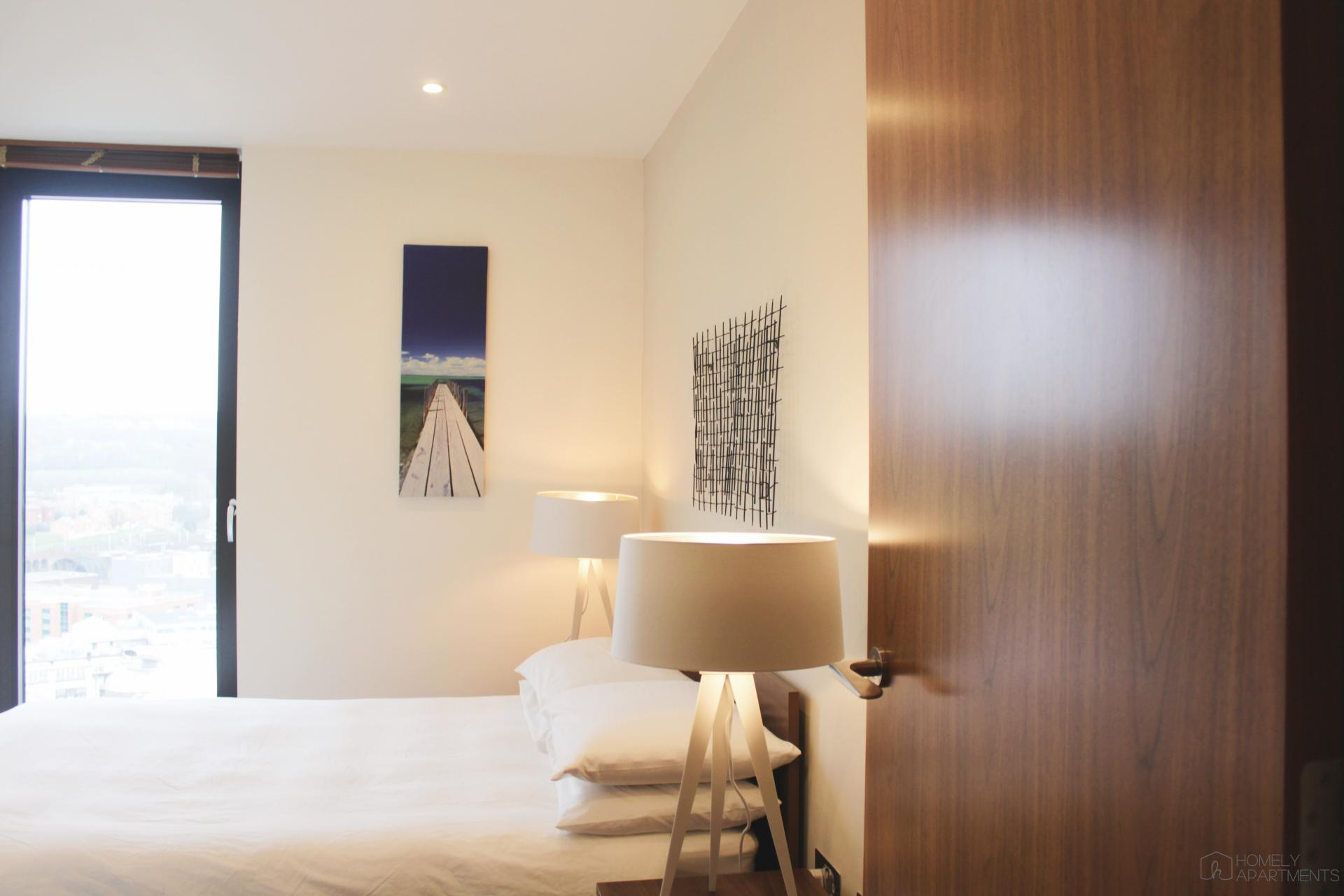 Stylish bedroom at St Paul's Apartments - Citybase Apartments