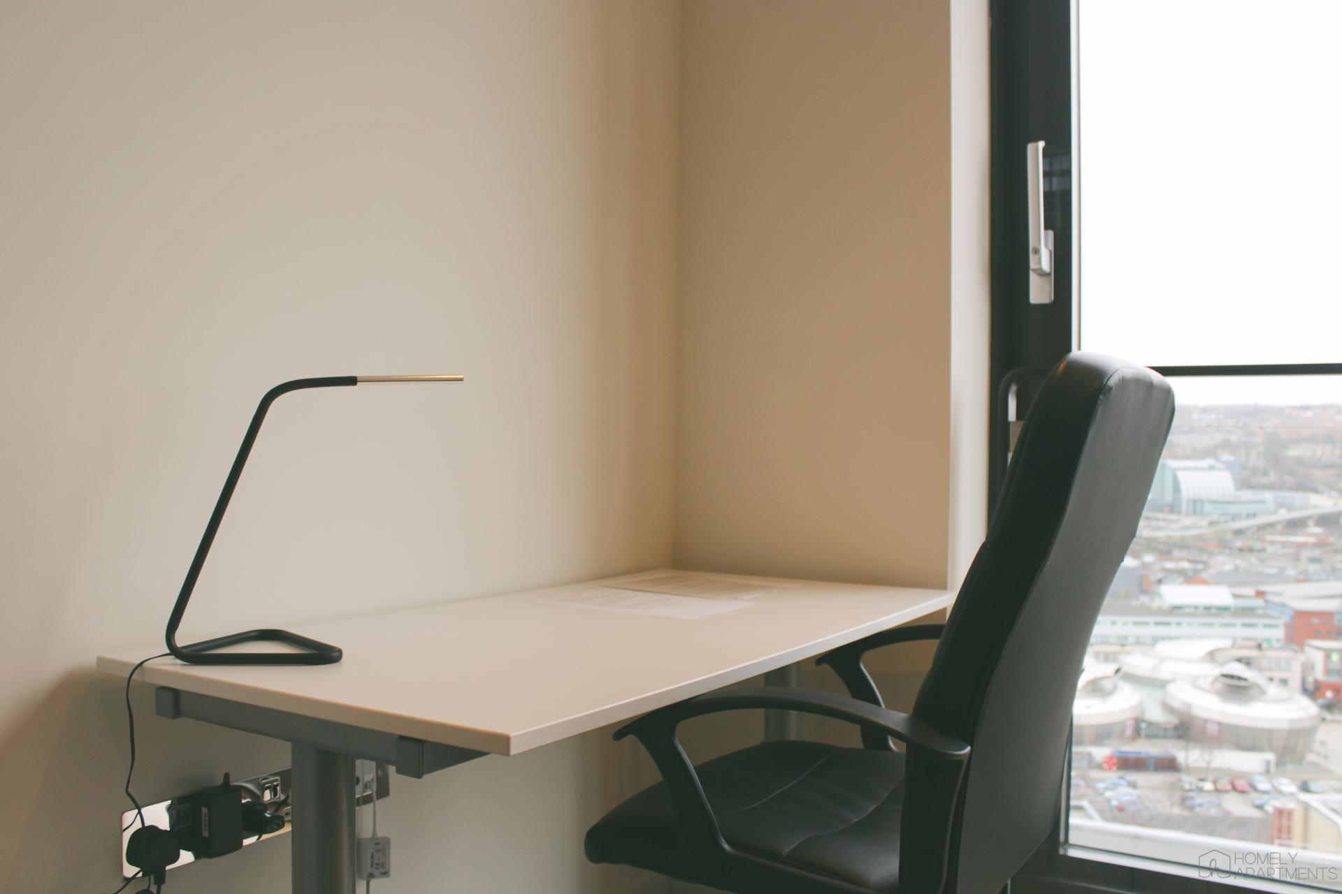 Desk at St Paul's Apartments - Citybase Apartments