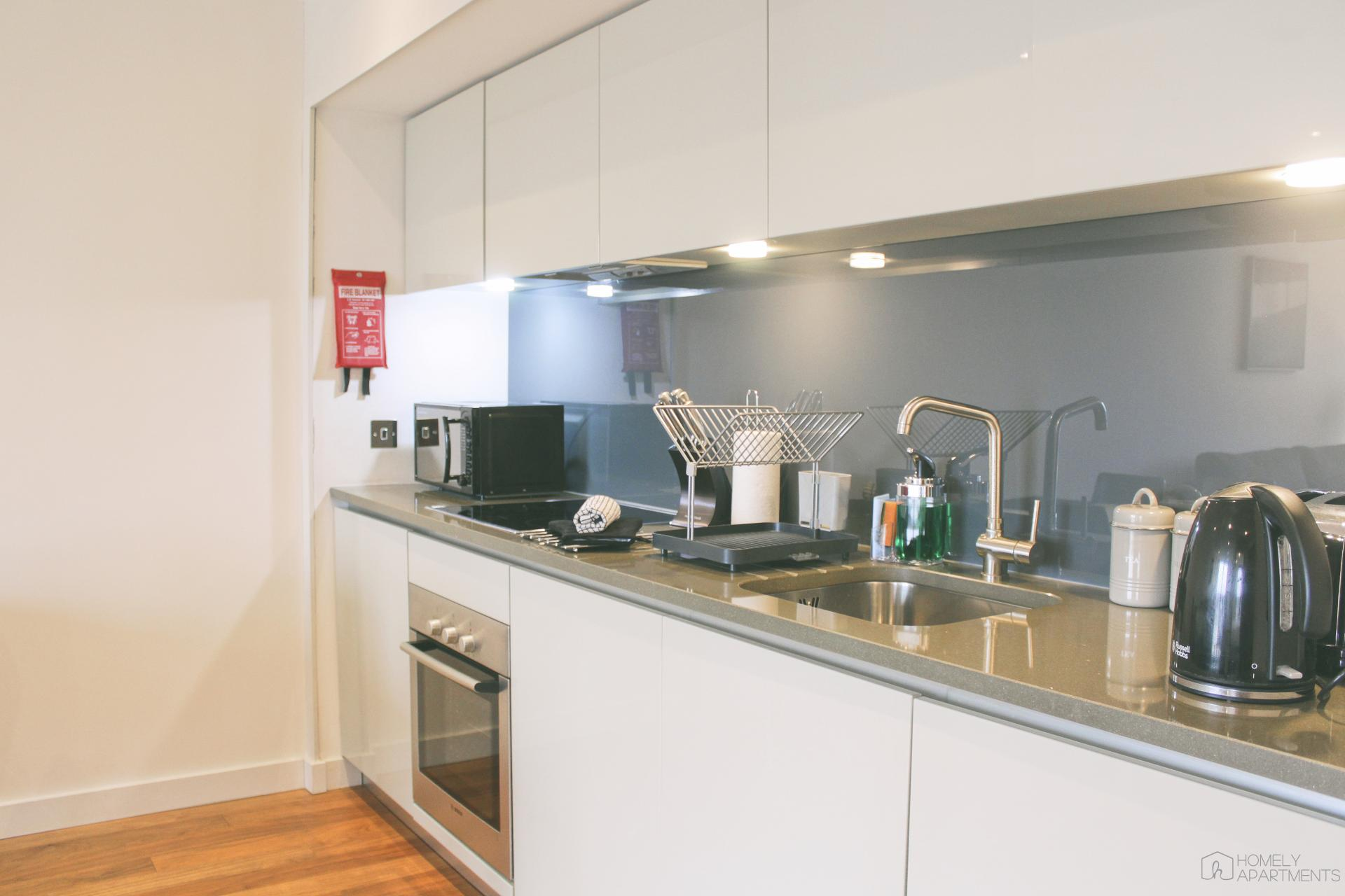 Kitchen at St Paul's Apartments - Citybase Apartments