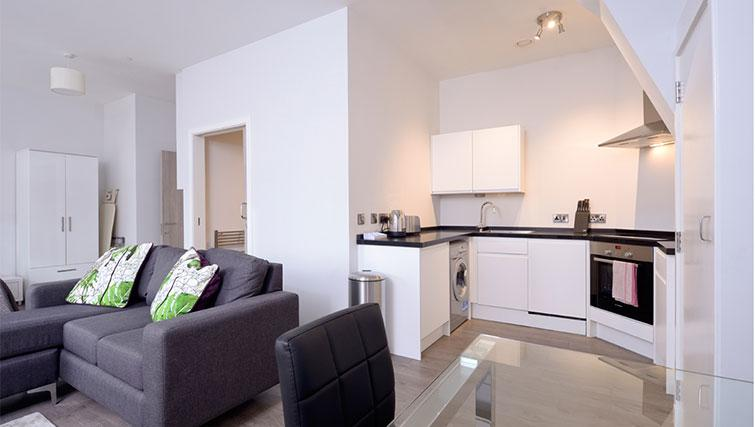 Cosy living area at Glassford Residence - Citybase Apartments