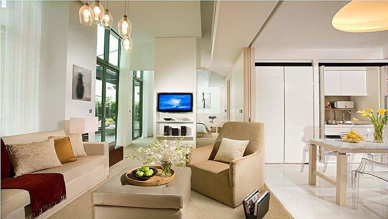 Living area at La Residenza Waterfront Apartments, Singapore - Citybase Apartments