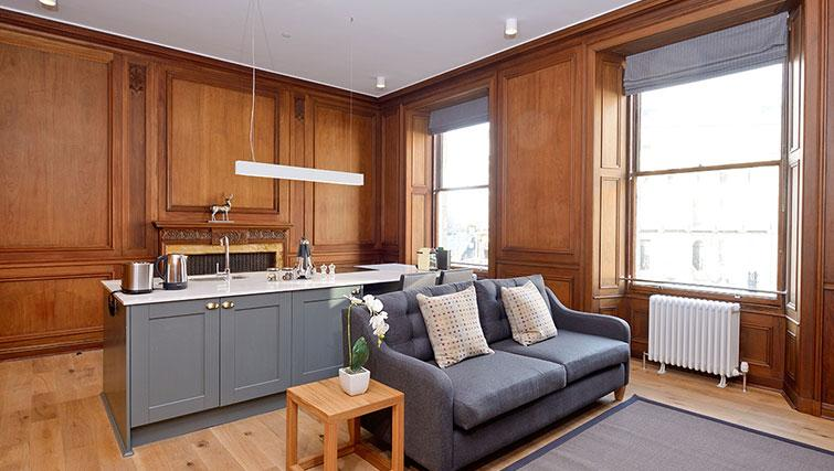 Cosy living area at Distillers House - Citybase Apartments