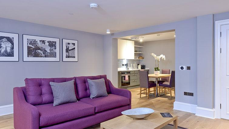 Bright living room at Distillers House - Citybase Apartments