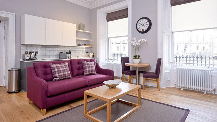 Living space at Distillers House - Citybase Apartments
