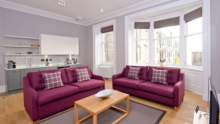 Large living area at Distillers House - Citybase Apartments