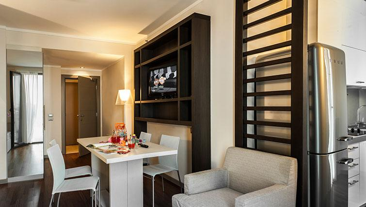 Open plan living area at Ramada Plaza Milano - The Residence - Citybase Apartments
