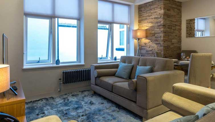 Living area at The Basinghall Apartments - Citybase Apartments