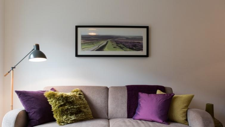 Cosy living area at Flamsteed Close Apartments - Citybase Apartments