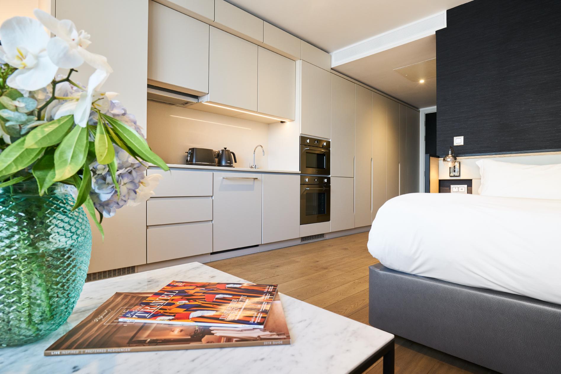 Kitchen at CitySuites Manchester - Citybase Apartments