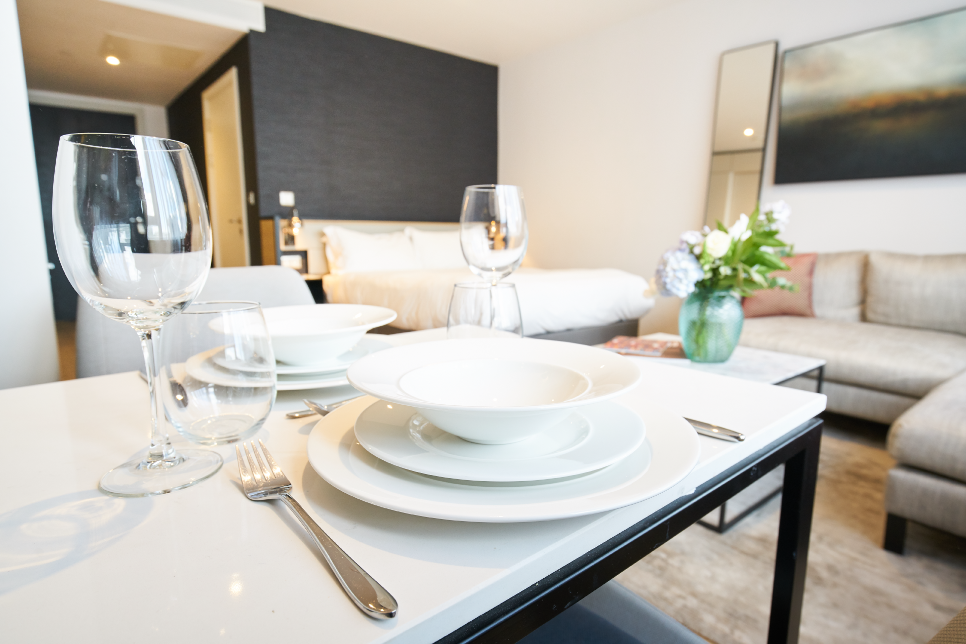Dining table at CitySuites Manchester - Citybase Apartments