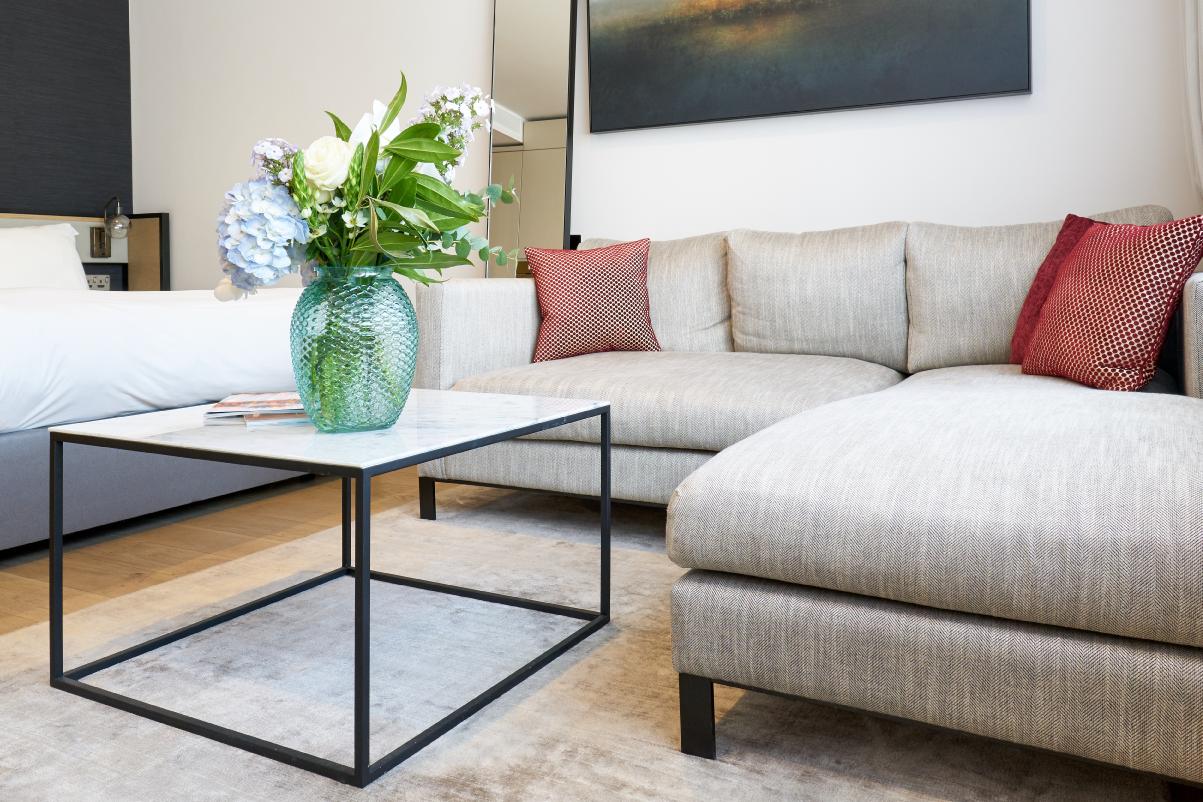 Sofa at CitySuites Manchester - Citybase Apartments