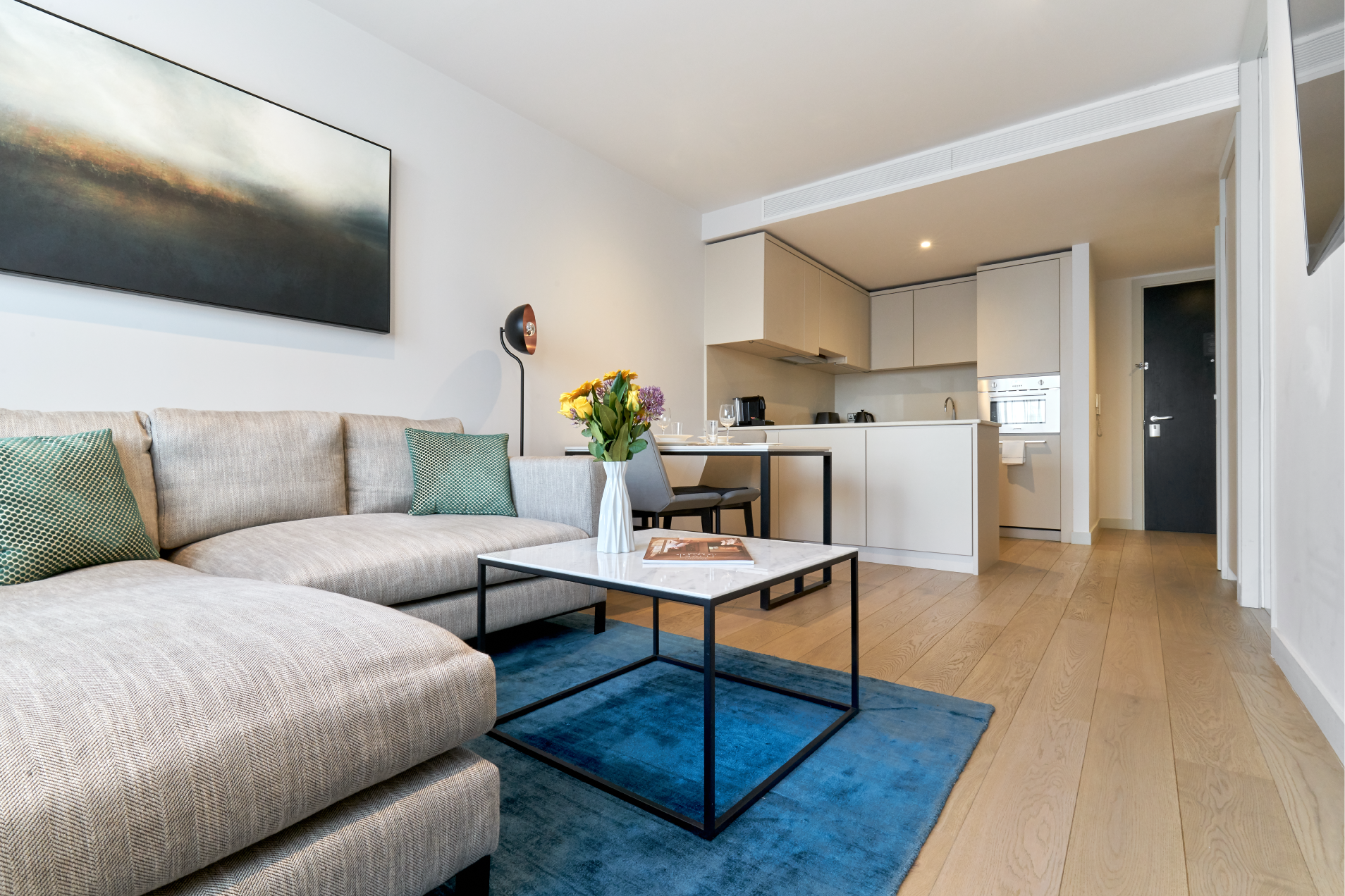 Living room at CitySuites Manchester - Citybase Apartments