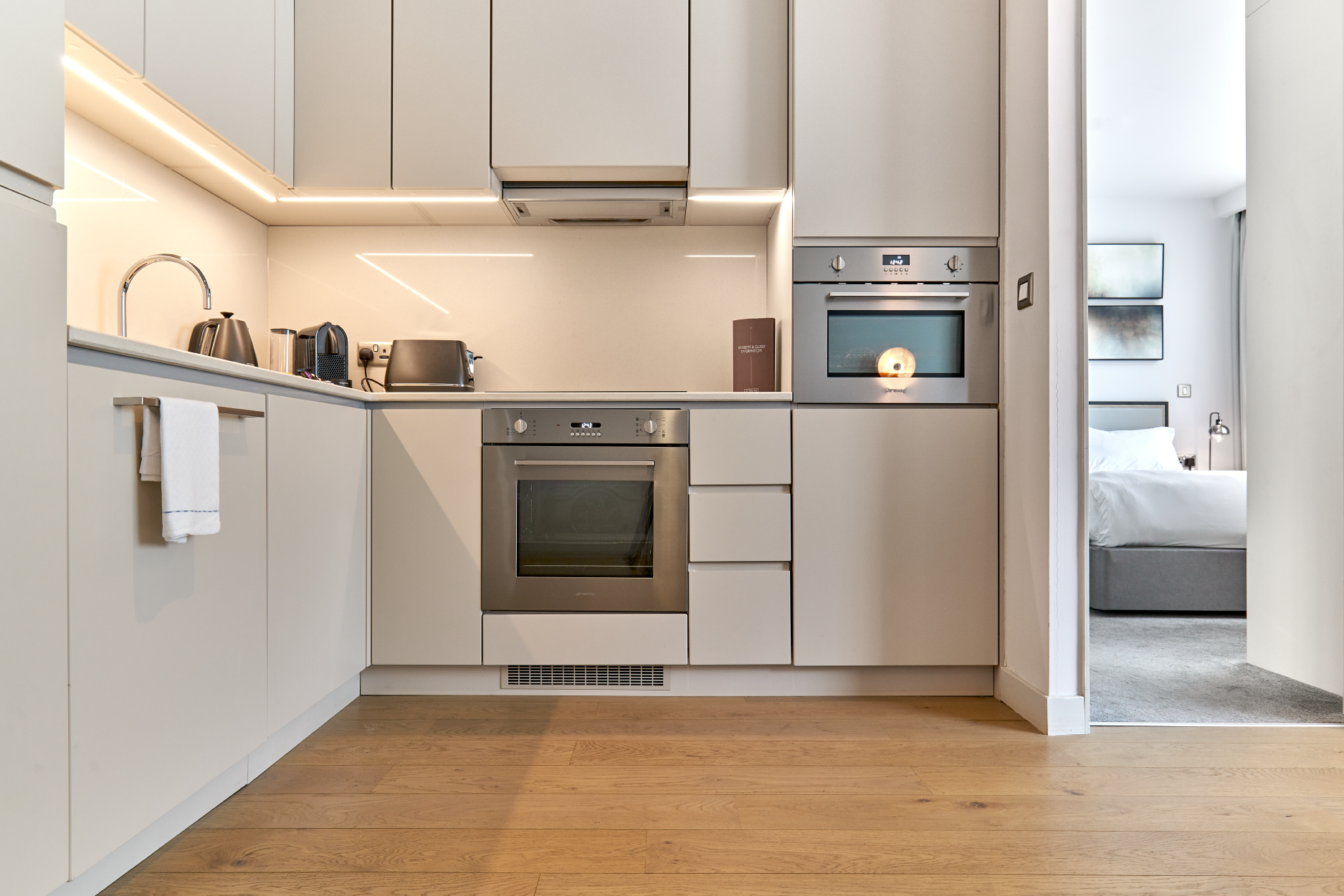 Kitchen facilities at CitySuites Manchester - Citybase Apartments