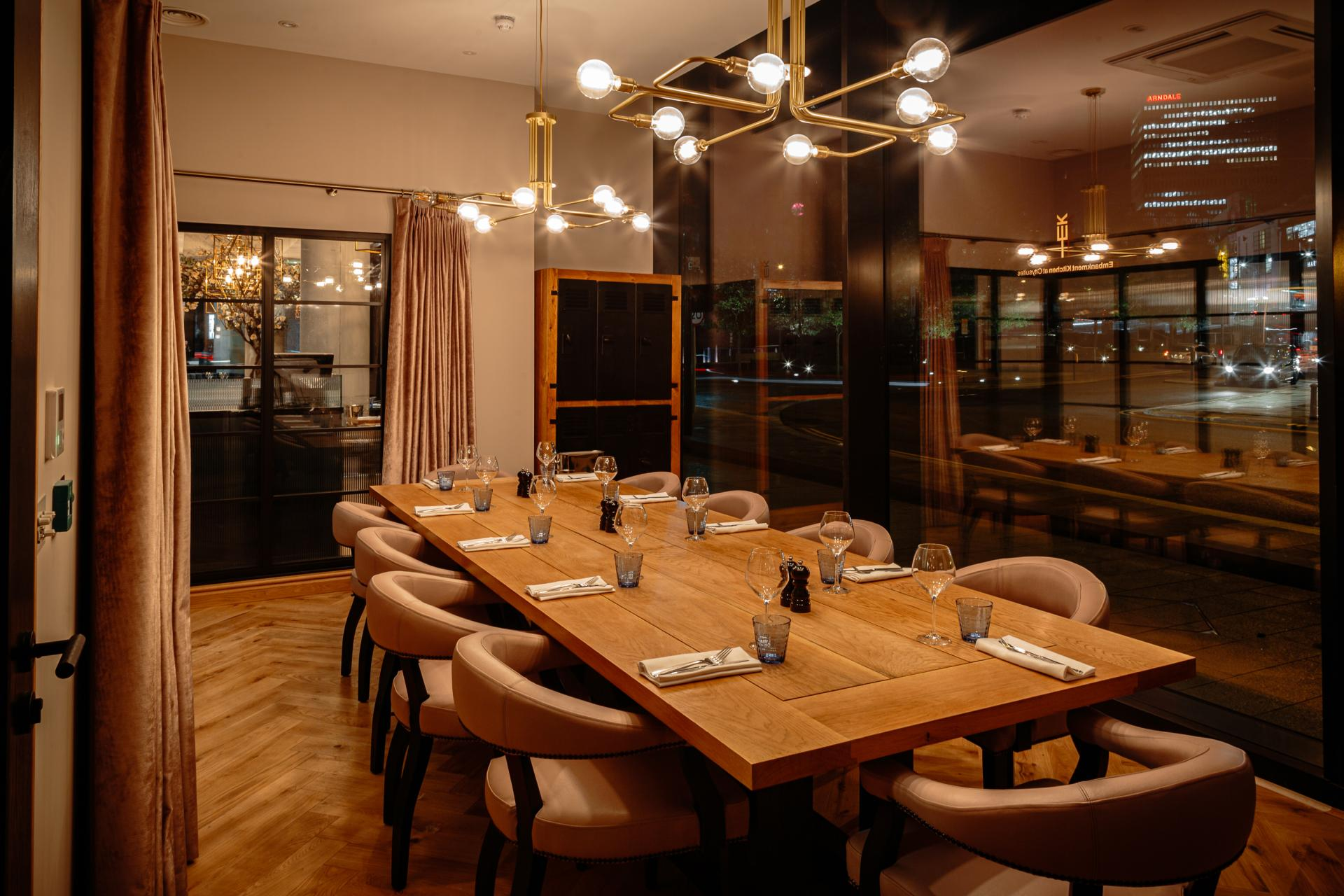 Private dining room at CitySuites Manchester - Citybase Apartments