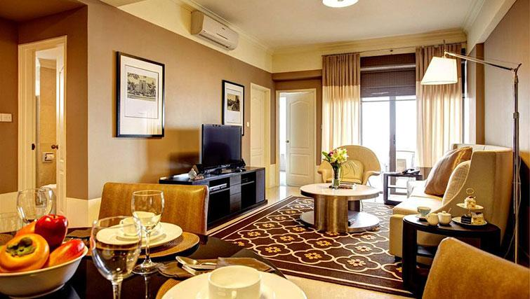 Living space at Great World Serviced Apartments, Singapore - Citybase Apartments