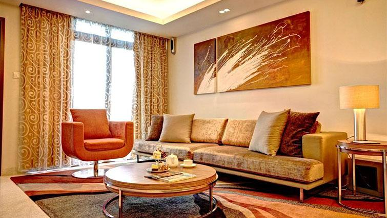 Stylish living room at Great World Serviced Apartments, Singapore - Citybase Apartments