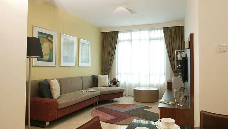 Open plan living area at Great World Serviced Apartments, Singapore - Citybase Apartments