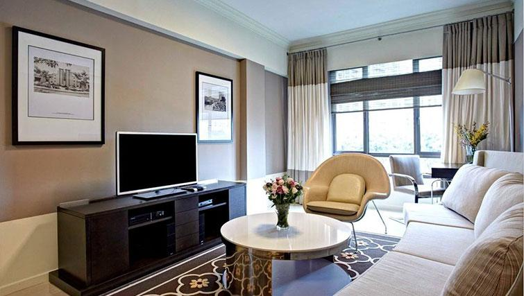 Modern living area at Great World Serviced Apartments, Singapore - Citybase Apartments