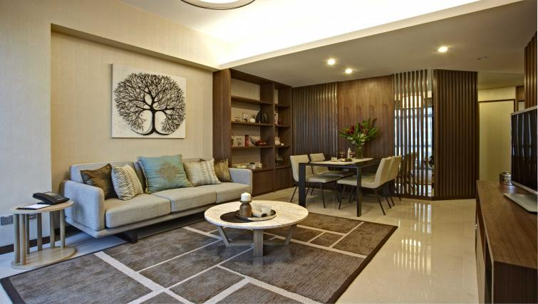 Living area at Great World Serviced Apartments, Singapore - Citybase Apartments