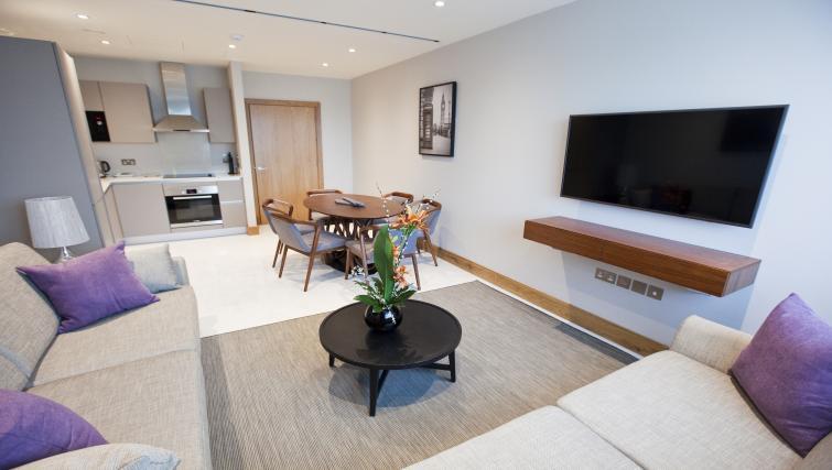 Dining space at Sanctum Belsize Apartments - Citybase Apartments
