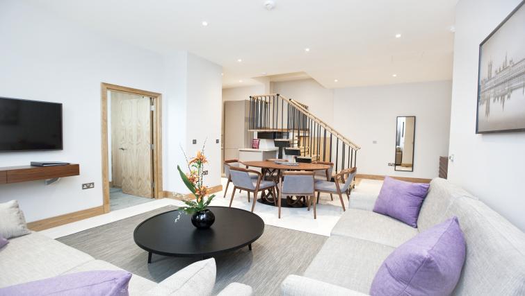 Open plan living area at Sanctum Belsize Apartments - Citybase Apartments