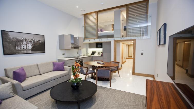 Living area at Sanctum Belsize Apartments - Citybase Apartments