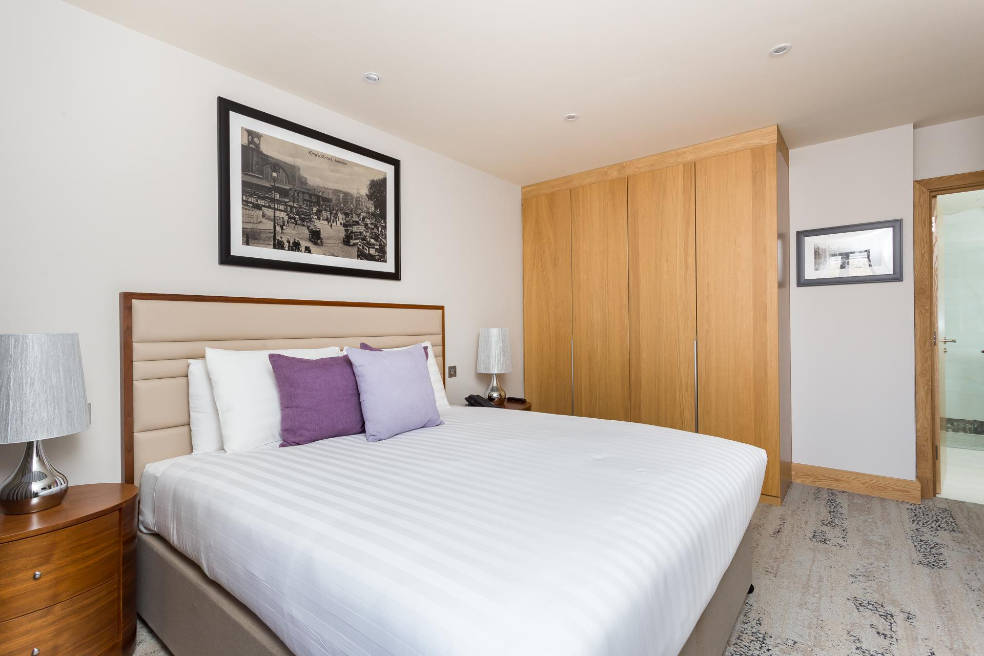 Spacious bedroom at Sanctum Belsize Apartments - Citybase Apartments