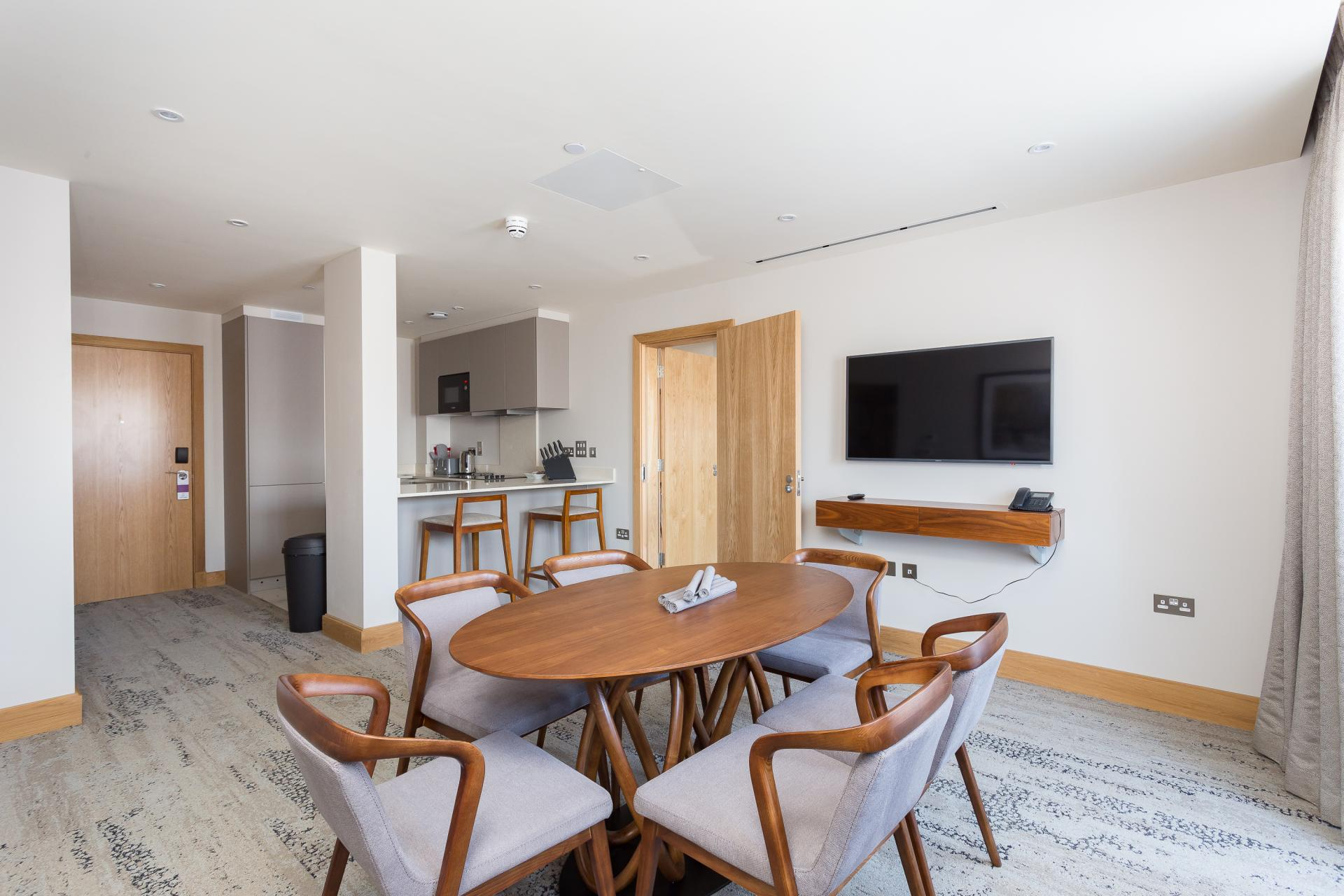 Dining table at Sanctum Belsize Apartments - Citybase Apartments