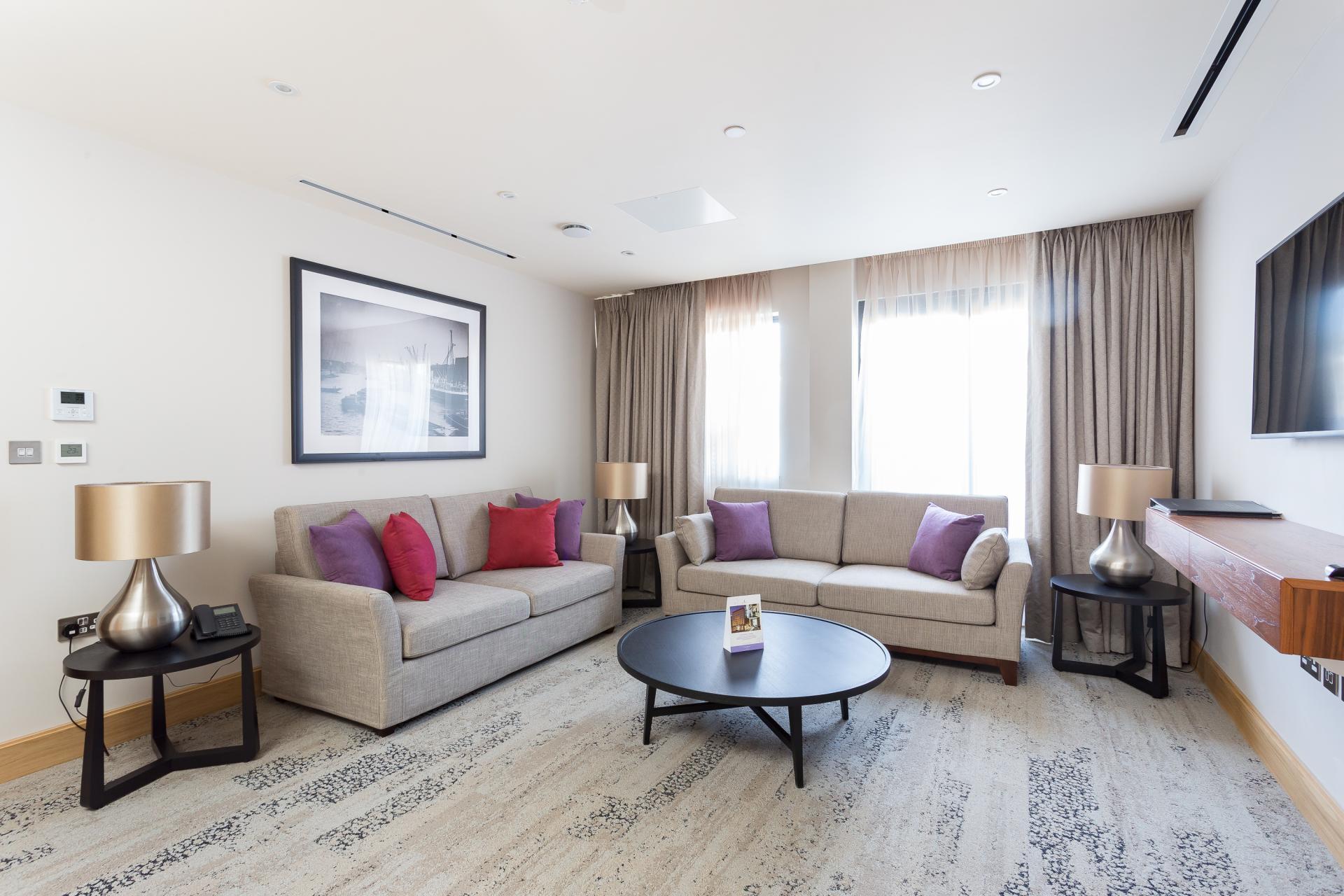 Lounge at Sanctum Belsize Apartments - Citybase Apartments