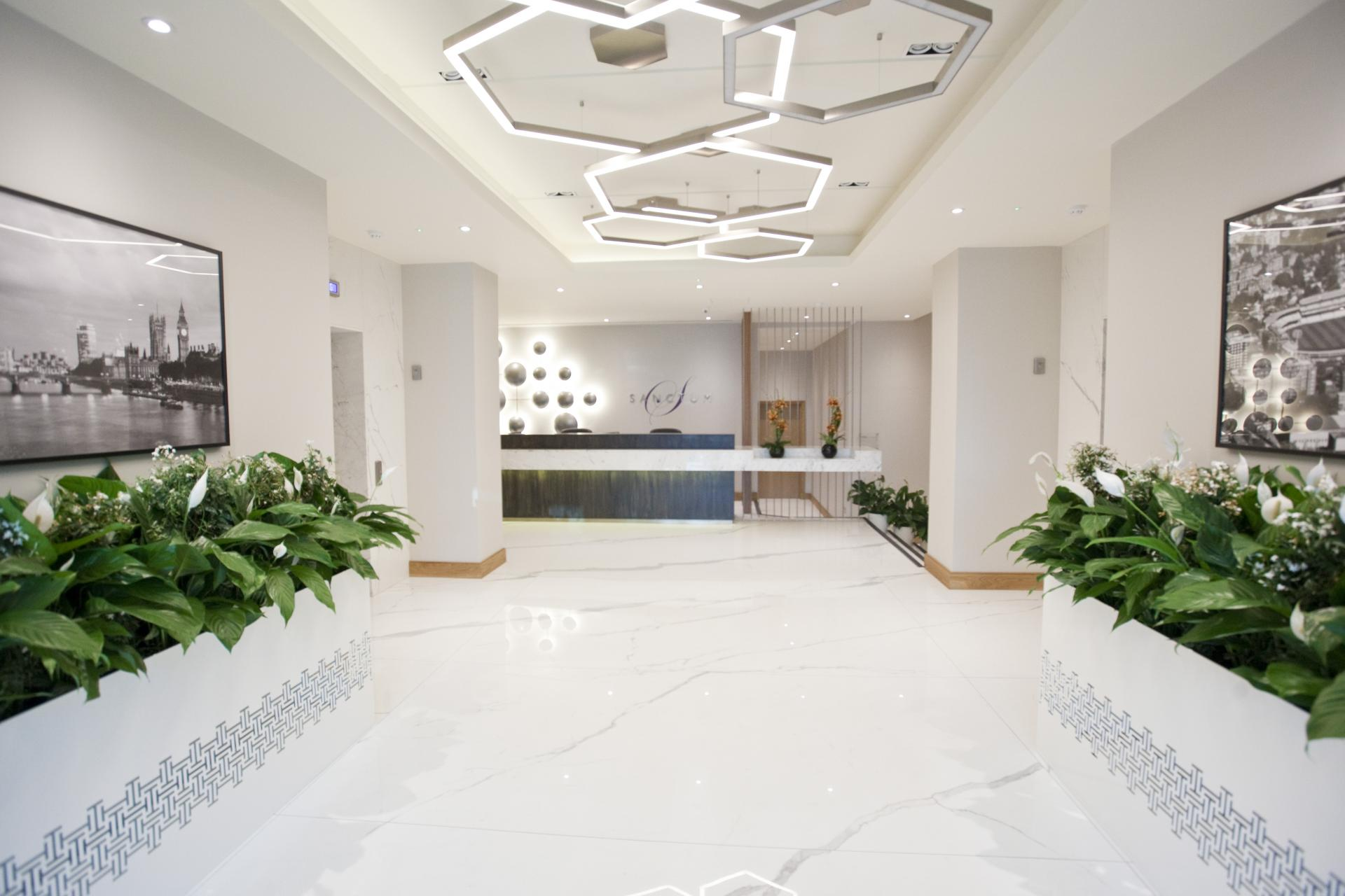 Lobby area at Sanctum Belsize Apartments - Citybase Apartments