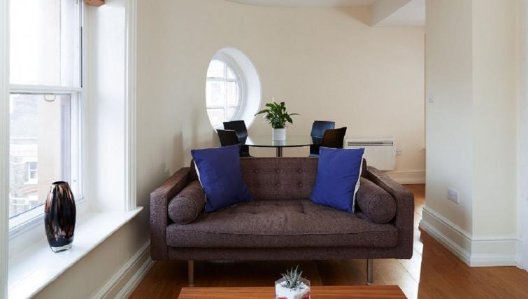 Living area at Charing Cross by Q Apartments - Citybase Apartments