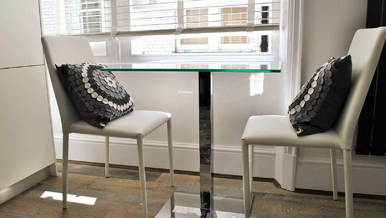 Dining area at Charing Cross by Q Apartments - Citybase Apartments