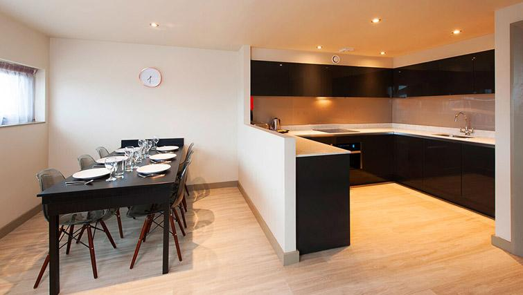Fully equipped kitchen at La Reserve Aparthotel - Citybase Apartments