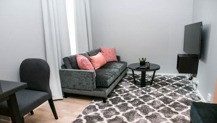 Cosy living area at Odinsgate 10 Apartment - Citybase Apartments