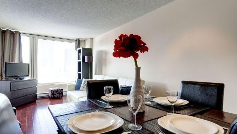 Dining area at Les etoiles Apartments - Citybase Apartments